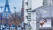 法国巴黎埃菲尔铁塔广告牌
