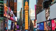 曼哈顿地标:纽约时代广场1号楼大屏幕LED