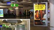 法兰克福国际机场国际到达区域灯箱媒体套装