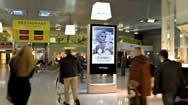 巴黎戴高乐机场2F航站楼到达区域高清屏幕媒体