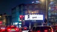 英国伦敦金丝雀码头陶尔哈姆莱茨区电子广告屏