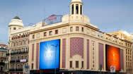 西班牙马德里卡亚俄广场巨型LED广告屏