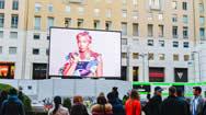 米兰市圣巴贝拉广场地标电子屏幕