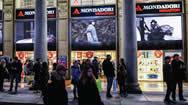 米兰市区--Mondadori Duomo(蒙达多里广场)橱窗电子屏