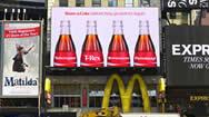 美国时代广场蓝色天幕巨型LED广告牌