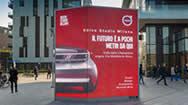 米兰ALVAR AALTO广场双面时尚广告牌