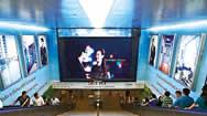 新加坡莱佛士坊地铁站出入口LED电子屏