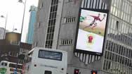 英国伯明翰斗牛场购物中心南部入口处数字屏幕