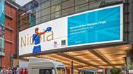曼彻斯特市场街LED电子广告显示屏