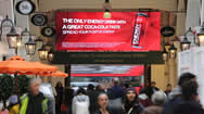 伦敦肯辛顿高街购物中心出口电子屏