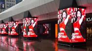 首尔COEX商场千年广场柱体LED显示屏