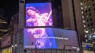 纽约曼哈顿第七大街宾州广场入口超级电子屏