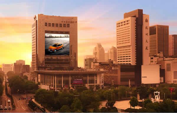 浙江杭州武林广场杭州之窗LED大屏广告