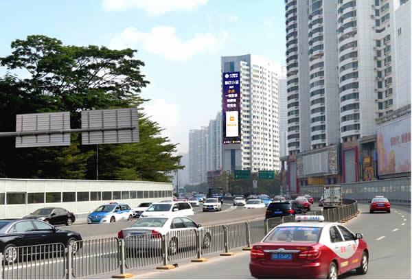 深圳罗湖区渔景大厦LED大屏