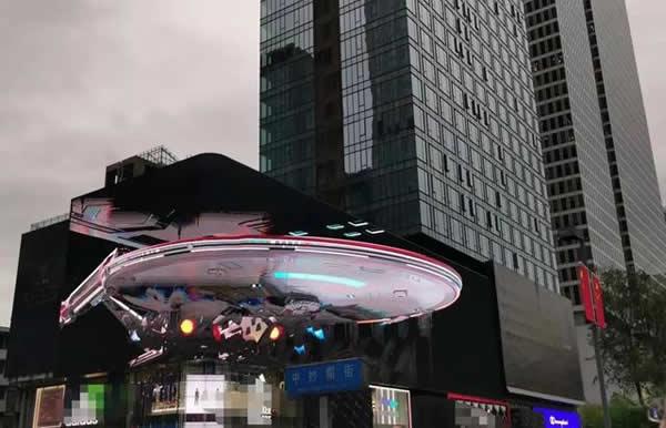 成都太古里裸眼3D盈嘉大厦LED大屏