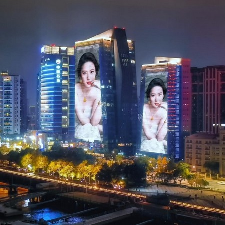 温州地标鹿港大厦广告