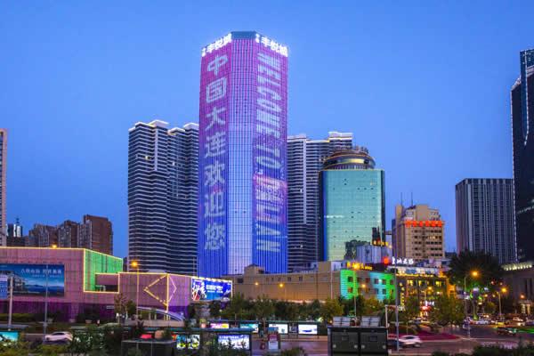 大连中信丰悦城楼体LED广告