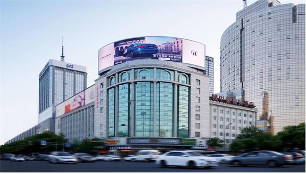宁波三江口邮政大楼屏
