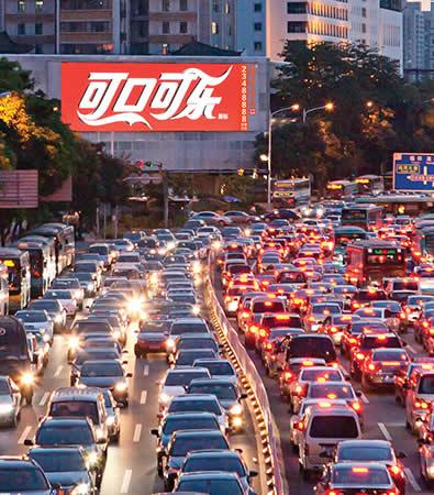 深圳深南路与红岭路红岭大厦屏