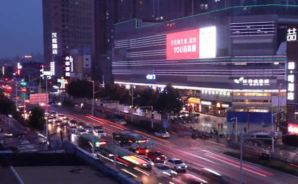 郑州硅谷商业广场 LED显示屏