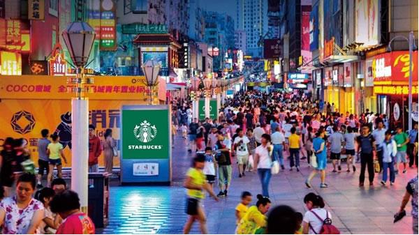 青岛台东三路步行街小屏组