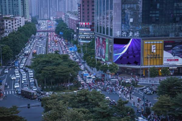 广州天河路丰兴广场 LED屏