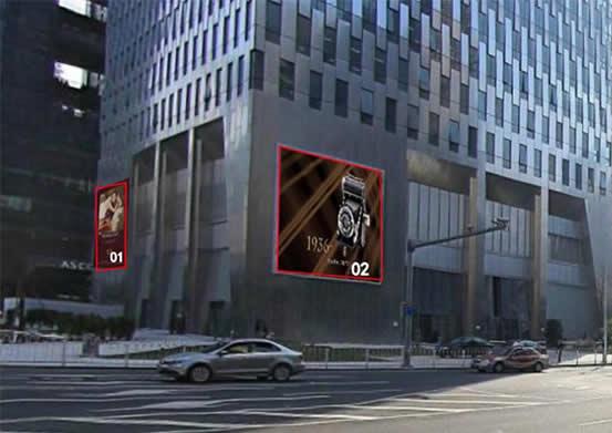 广州富力盈凯广场北/西面LED屏