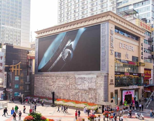 成都春熙路北口丽靓屏LED广告