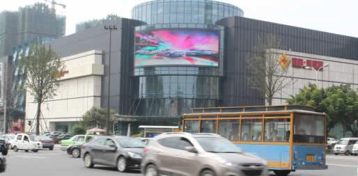 成都市益州大道富森美家居外墙LED广告位