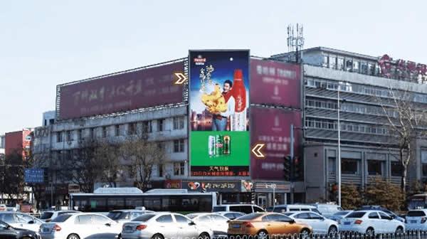 太原迎泽大街五一广场屏
