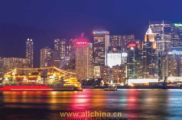 香港维多利亚港楼顶户外LED广告(怡东酒店)