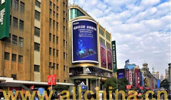 上海南京东路第一百货广告电子屏
