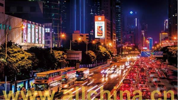 深圳深南大道万象城LED广告屏