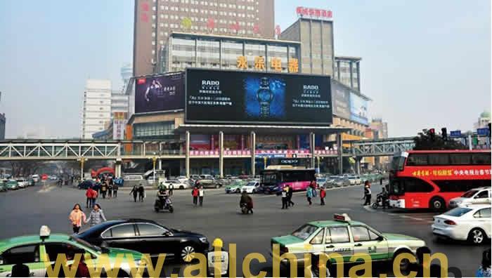 郑州二七广场商城大厦电子大屏幕