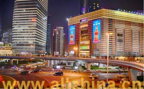 上海陆家嘴正大广场双面大屏幕广告