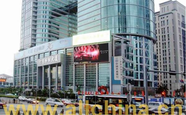 深圳福田区信息枢纽大厦墙体LED大屏幕
