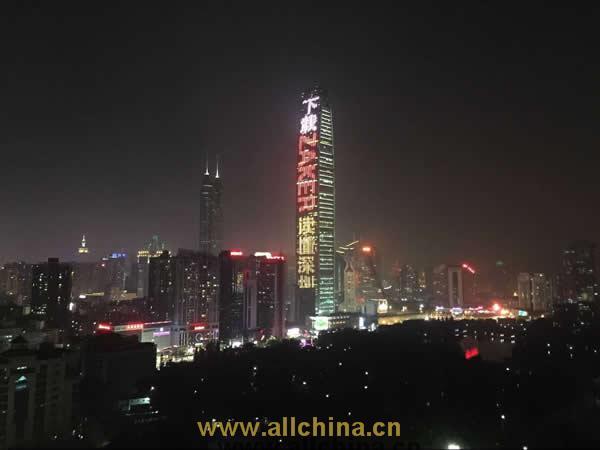 深圳京基大厦100LED灯光秀广告